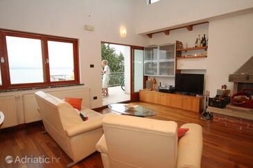 Preko, Living room in the apartment, dostupna klima.