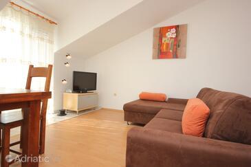 Mavarštica, Living room in the apartment, dopusteni kucni ljubimci i WIFI.