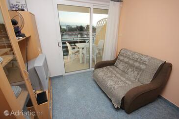 Poljana, Living room in the apartment, dopusteni kucni ljubimci i WIFI.