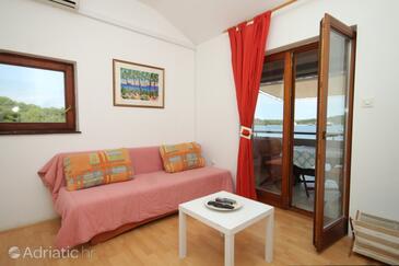 Kukljica, Living room in the apartment, dostupna klima i WIFI.