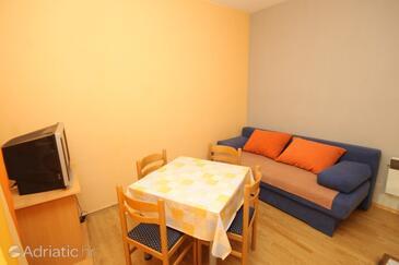 Mrljane, Living room in the apartment, WIFI.