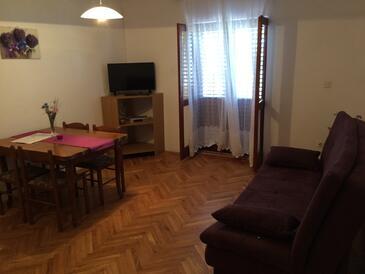 Mrljane, Obývacia izba v ubytovacej jednotke apartment, WIFI.