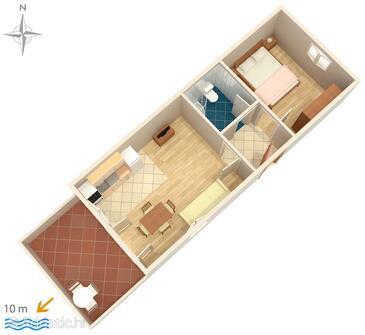 Lukoran, План в размещении типа apartment, Домашние животные допускаются и WiFi.