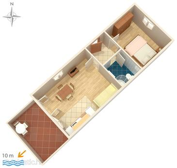 Lukoran, Plan in the apartment, (pet friendly) and WiFi.