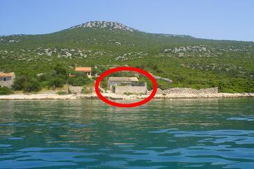 Čerenje, Pašman, Objekt 8477 - Ubytovanie blízko mora s kamenistou plážou.