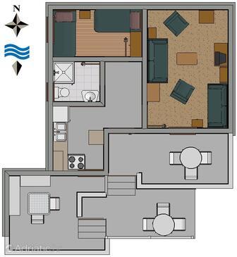 Sveti petar jednopokojowy apartament przy pla y a 849 a for Apartment wifi plans