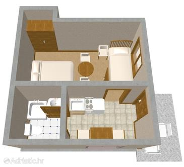 Sveti Filip i Jakov, Plan in the apartment.