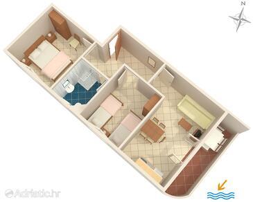Seget Vranjica, План в размещении типа apartment, WiFi.