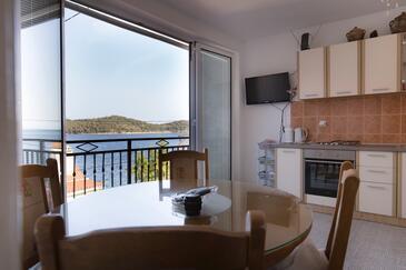 Vis, Jídelna v ubytování typu apartment, s klimatizací a domácí mazlíčci povoleni.