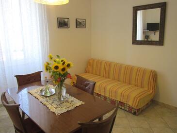 Komiža, Obývací pokoj v ubytování typu apartment, WiFi.