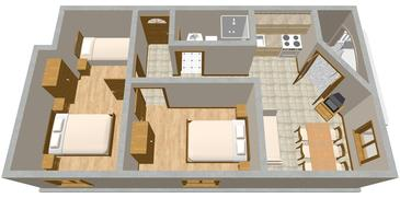 Drage, Plan kwatery w zakwaterowaniu typu apartment, WIFI.
