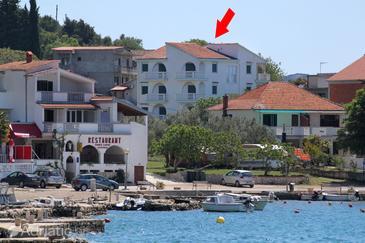 Drage, Biograd, Property 854 - Apartments near sea with pebble beach.