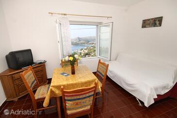 Mlini, Dining room in the apartment, dostupna klima, dopusteni kucni ljubimci i WIFI.