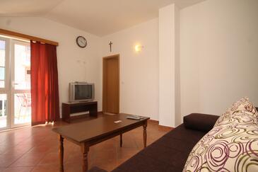 Cavtat, Obývací pokoj v ubytování typu apartment, domácí mazlíčci povoleni a WiFi.