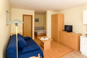 Dubrovnik, Obývací pokoj v ubytování typu studio-apartment, WiFi.