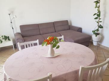 Slano, Dining room in the apartment, dostupna klima, dopusteni kucni ljubimci i WIFI.