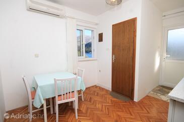 Slano, Столовая в размещении типа studio-apartment, доступный кондиционер, Домашние животные допускаются и WiFi.