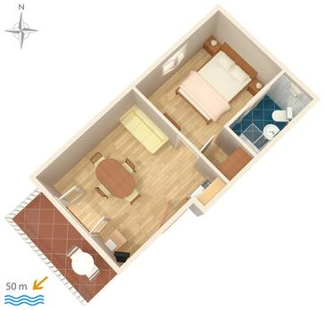 Komarna, Plan in the apartment, WiFi.