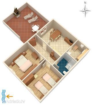 Seget Vranjica, Plan dans l'hébergement en type apartment, animaux acceptés et WiFi.