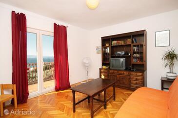Duće, Obývací pokoj v ubytování typu apartment, WiFi.
