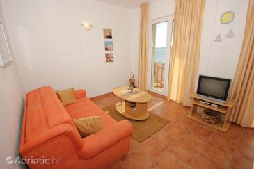 Zavala, Living room in the apartment, dostupna klima i dopusteni kucni ljubimci.