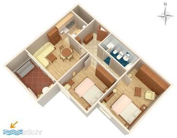 Dugi Rat, Plan in the apartment, WIFI.