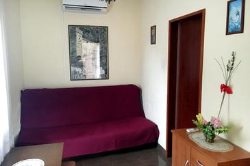Stari Grad, Obývací pokoj v ubytování typu apartment, s klimatizací a WiFi.