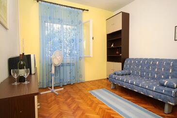 Jelsa, Obývacia izba v ubytovacej jednotke apartment, WiFi.