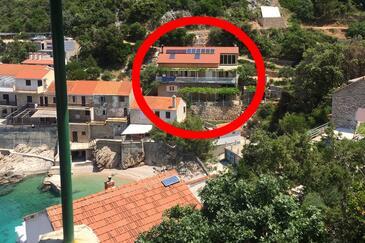 Pobij, Hvar, Hébergement 8702 - Appartement à proximité de la mer avec une plage de galets.
