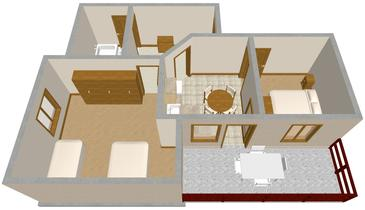 Sali, Načrt v nastanitvi vrste apartment, WiFi.