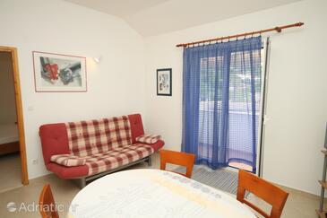 Hvar, Living room in the apartment, dopusteni kucni ljubimci i WIFI.