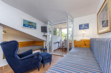 Jelsa, Obývací pokoj v ubytování typu apartment, WiFi.