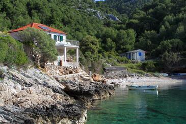 Uvala Prisnjak, Hvar, Objekt 8763 - Ubytovanie blízko mora s kamienkovou plážou.