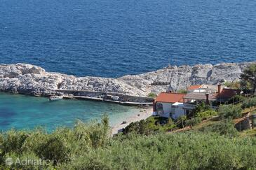 Uvala Zaraće (Dubovica), Hvar, Property 8781 - Apartments and Rooms near sea with pebble beach.
