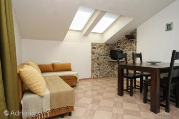 Karkavac - Šćedro, Living room in the apartment, (pet friendly) and WiFi.