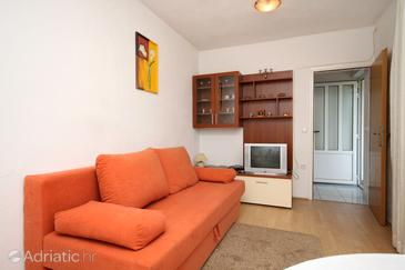 Jelsa, Living room in the apartment, dopusteni kucni ljubimci i WIFI.