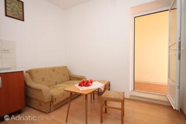 Mlini, Obývací pokoj v ubytování typu apartment, WiFi.