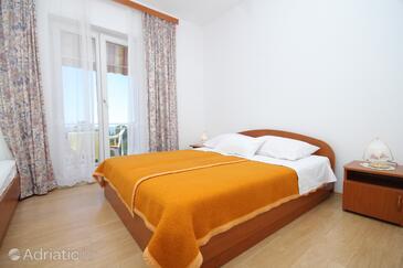 Mlini, Ložnice v ubytování typu room, s klimatizací a WiFi.