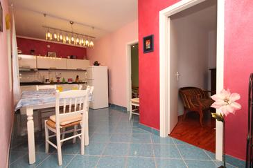 Rukavac, Dining room in the apartment, air condition available and WiFi.