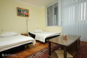 Vis, Obývací pokoj v ubytování typu apartment, domácí mazlíčci povoleni a WiFi.