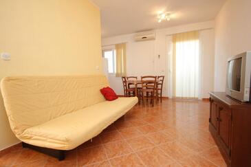 Komiža, Obývacia izba v ubytovacej jednotke apartment, dopusteni kucni ljubimci i WIFI.