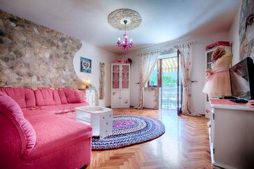 Komiža, Living room in the apartment, WIFI.