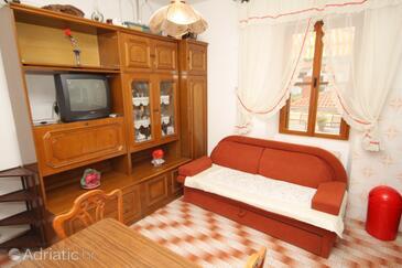Komiža, Living room in the apartment, dopusteni kucni ljubimci.