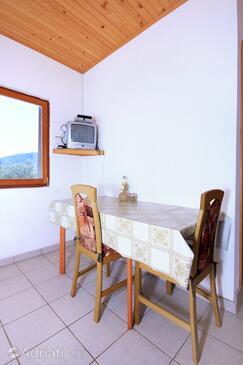 Žman, Sala da pranzo nell'alloggi del tipo apartment, animali domestici ammessi.