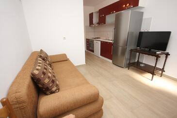 Vis, Obývacia izba v ubytovacej jednotke apartment, WIFI.