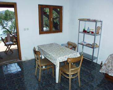 Krknata, Jedáleň v ubytovacej jednotke house, domáci miláčikovia povolení.
