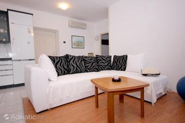 Vis, Living room in the apartment, dostupna klima i dopusteni kucni ljubimci.