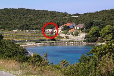 Parja, Vis, Alloggio 8903 - Casa vacanze vicino al mare con la spiaggia rocciosa.