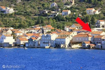 Vis, Vis, Объект 8907 - Дом для отдыха вблизи моря с галечным пляжем.