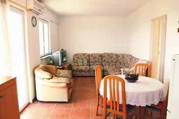 Brgujac, Living room in the apartment, air condition available and WiFi.